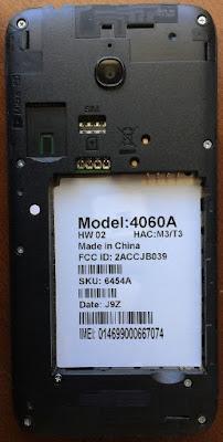Alcatel 4060a Flash File CM2 Read Firmware