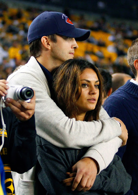 Mila Kunis and Ashon Kutcher giving long term relationship goals
