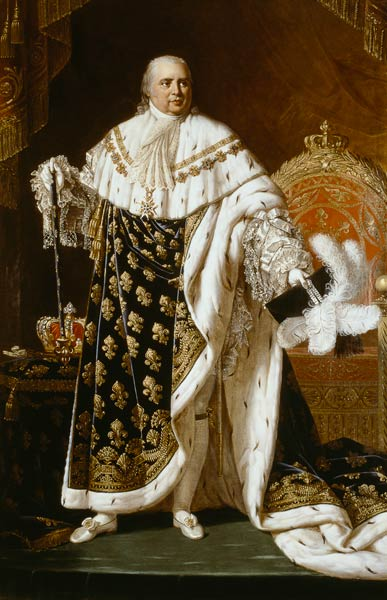 Louis XVIII in Coronation Robes by Robert Lefèvre, 1822