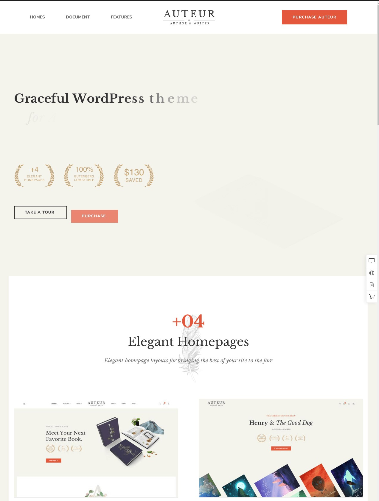Auteur  WordPress Theme for Authors and Publishers