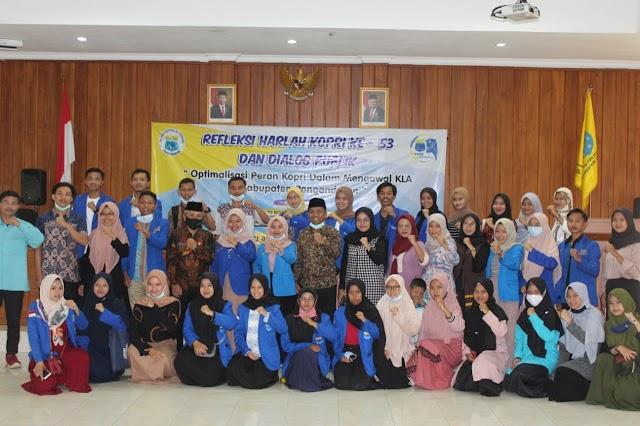 Melalui Refleksi Hari Lahir Korps PMII Puteri ke-53, Kopri Pangandaran menggelar Dialog Publik Mengenai Kabupaten Layak Anak (KLA)