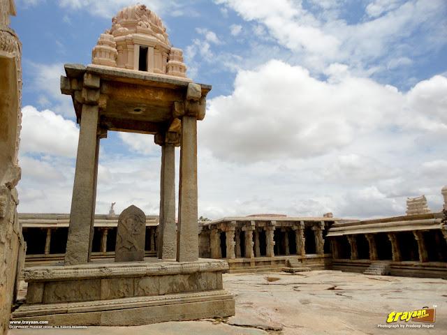 Hanuman, carved on stone inside the Veerabhadra Swamy Temple complex at Lepakshi, in Andhra Pradesh, India