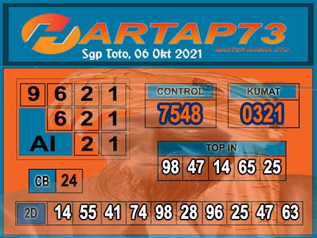 hartap73 SGP Rabu 06 Oktober 2021