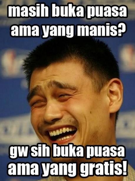 Gambar DP meme lucu buat komen terbaru bulan Ramadahan anak kos buka puasa gratis