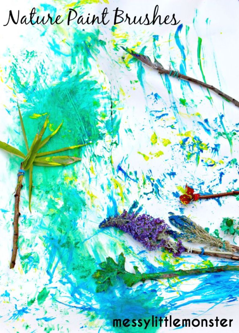 outdoor activities for kids - nature painting