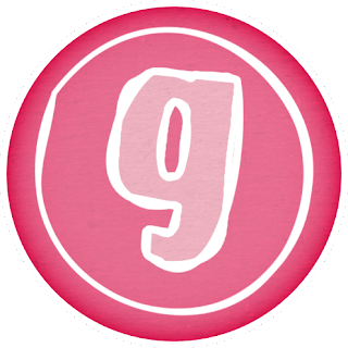 Letras Rosa en Círculos Rosa. Pink Letters in Pink Circles.