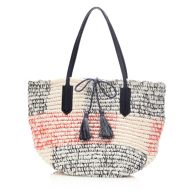 J Crew Colourblock Straw Market Tote