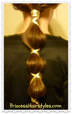 Halloween hairstyle idea.  Disney's Brave ponytail tutorial.