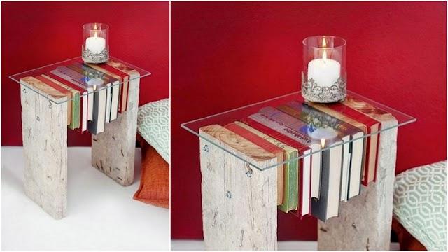 DIY Τραπεζάκι με ξύλο και γυαλί