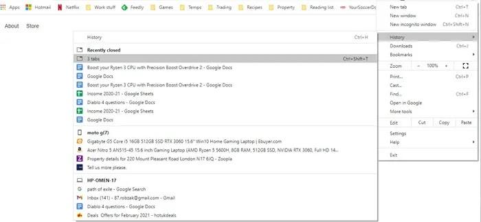 أعد تشغيل Chrome دون فقد علامات التبويب المغلقة مؤخرًا