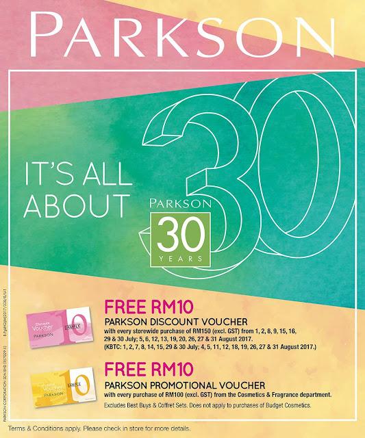 Free Parkson Discount Promotional Voucher