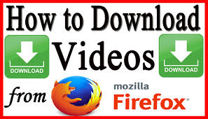 download YouTube Videos with Mozilla firefox