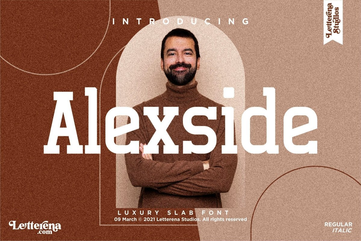 Alexside Font - Free Slab Serif Typeface