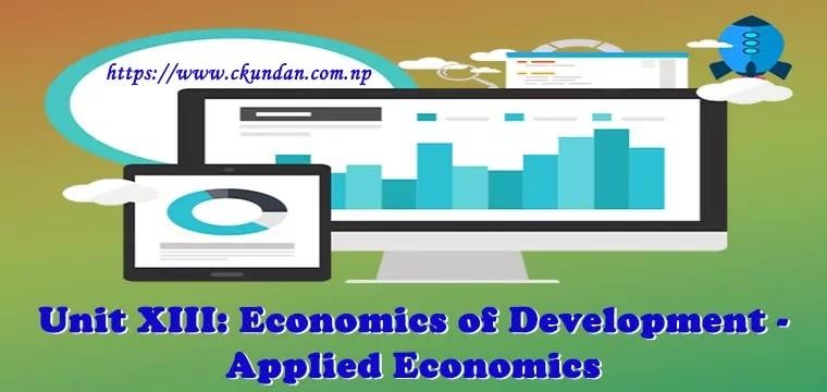 Economics of Development - Applied Economics