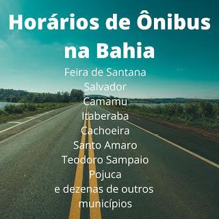 Imagem: Horários de ônibus de Feira de Santana para São Felix via Cachoeira