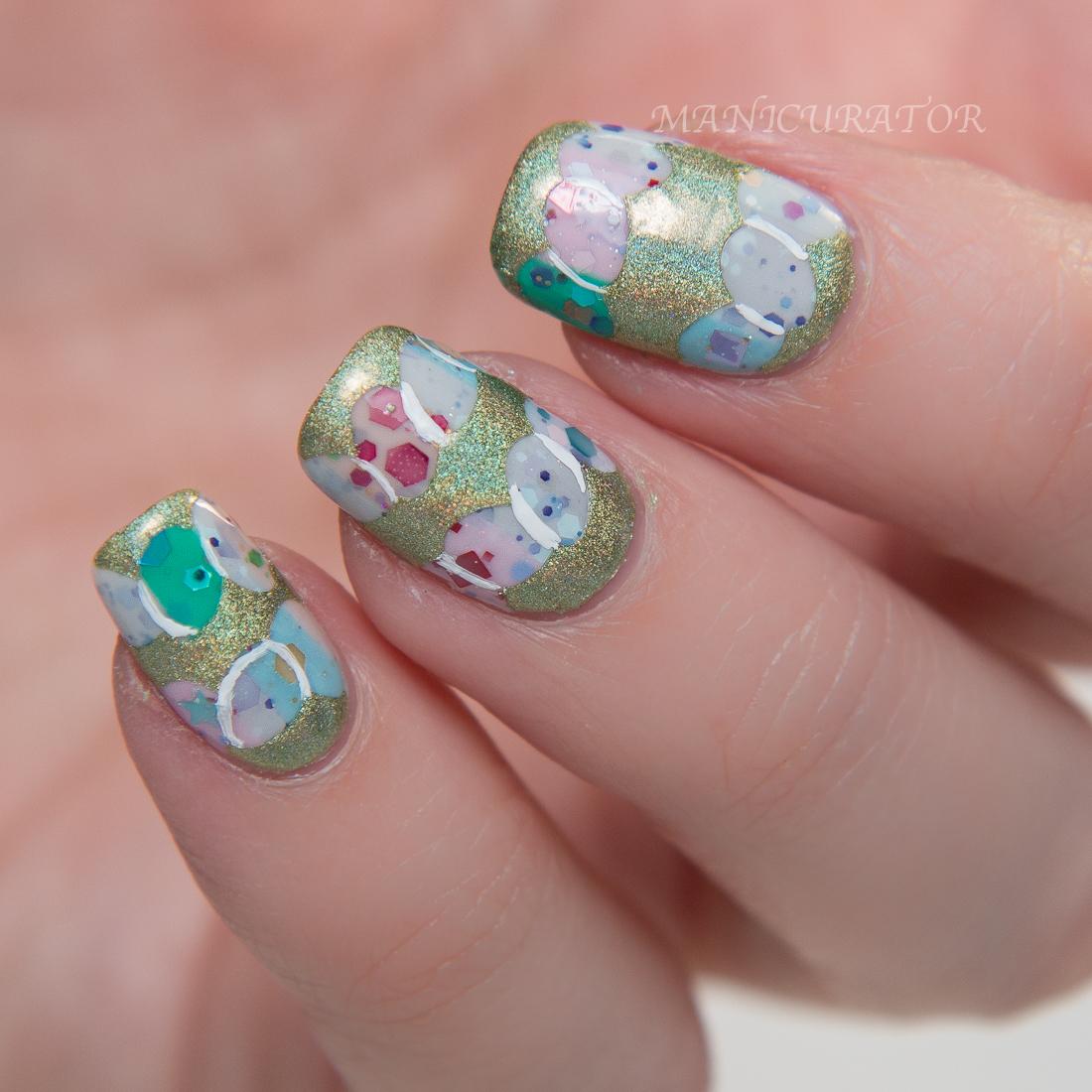Kbshimmer Spring 2015 Glitter Easter Egg Vinyl Nail Art