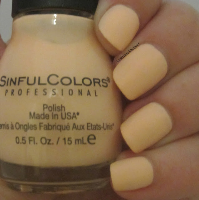 Peach-nail-polish-with-a-matte-finish
