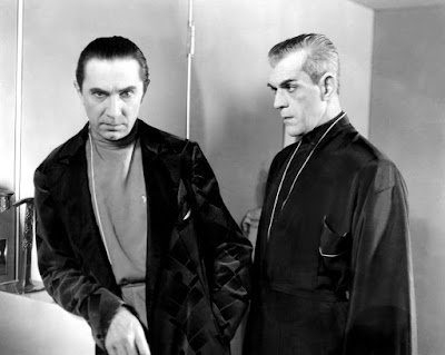 Publicity still, Bela Lugosi and Boris Karloff in The Black Cat, 1934