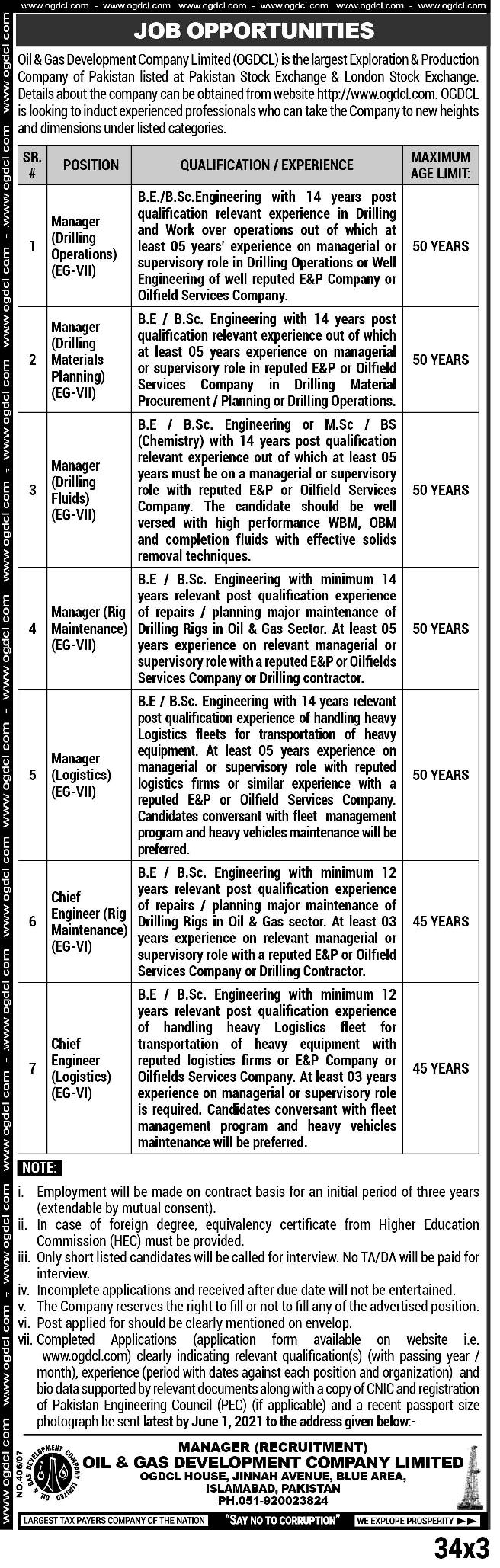 Engineers Jobs In Oil & Gas Development Company 2021   Apply Online