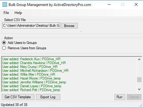 مثال 4: إضافة مستخدمين إلى مجموعات أمان متعددة