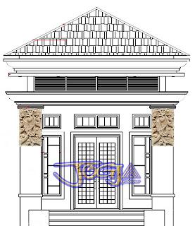 desain Ukiran batu alam putih untuk tempel tiang pilar motif bali