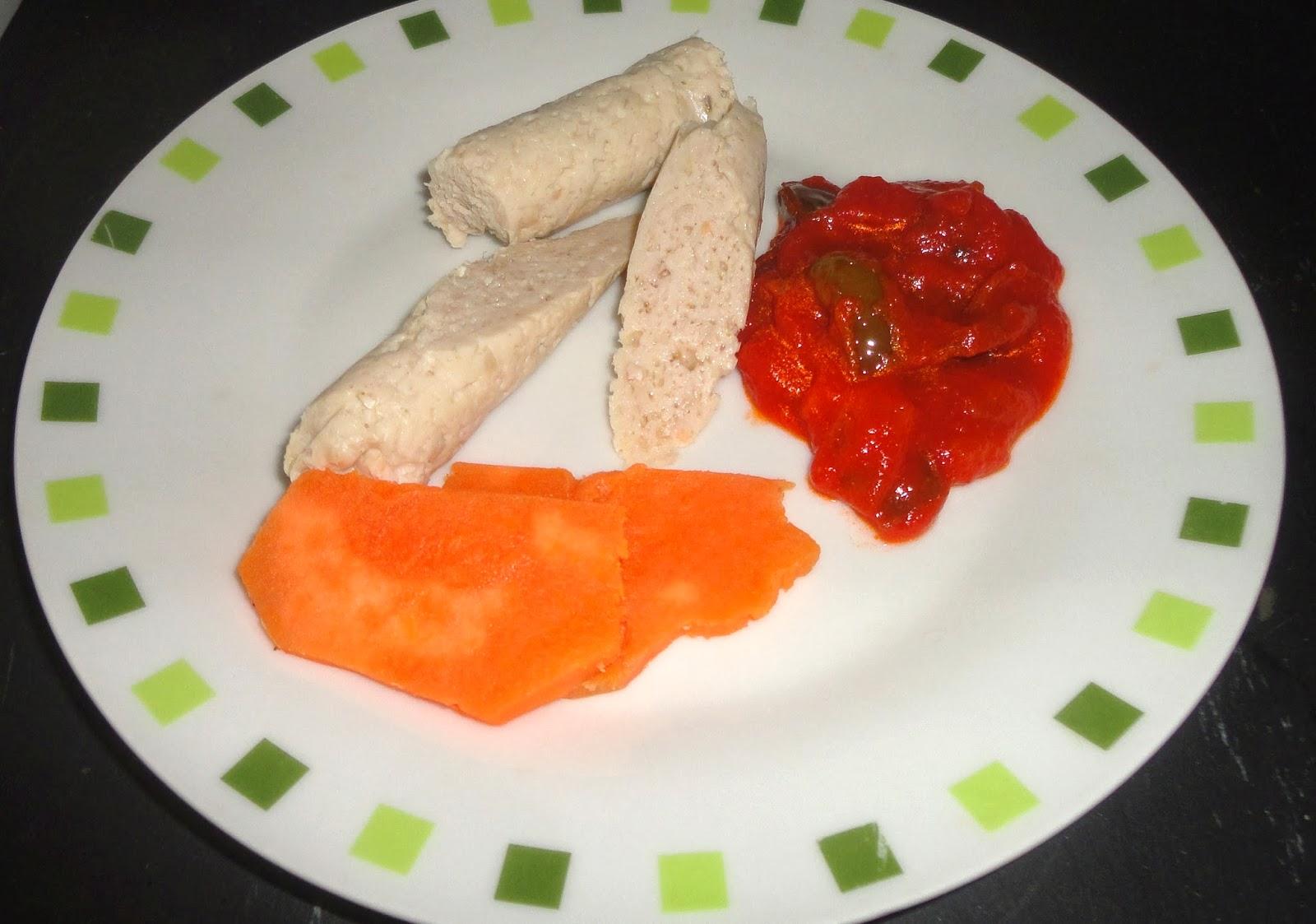 Voluntades dehoynopasay salchichas de pollo hechas en casa con salsa de manzana al lim n - Salsa de pollo al limon ...