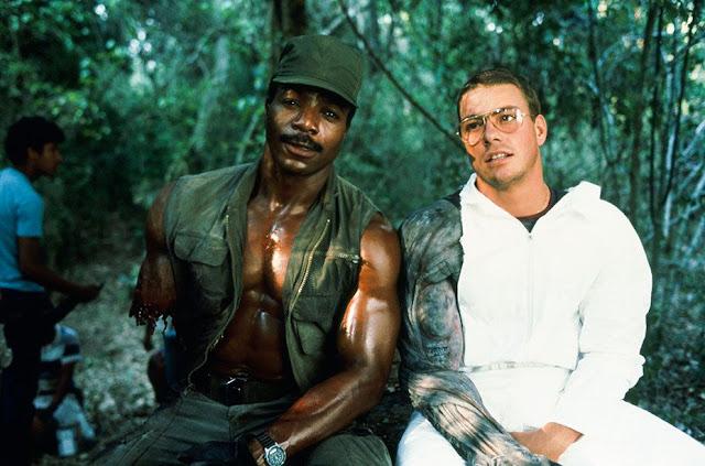 Jean Claude Van Damme en el rodaje de Depredador