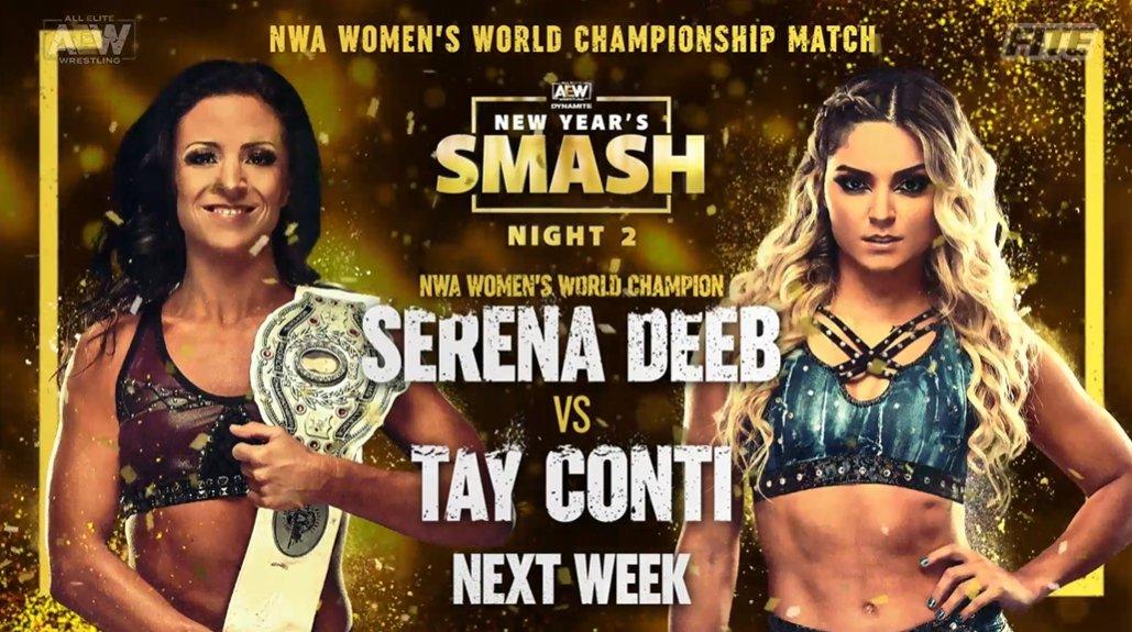 Divulgado o card da segunda noite do AEW New Year's Smash