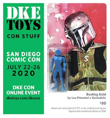 San Diego Comic-Con 2020 Exclusive Bootleg Gold Sucklord Resin Figure by Lou Pimentel x Suckadelic x DKE Toys