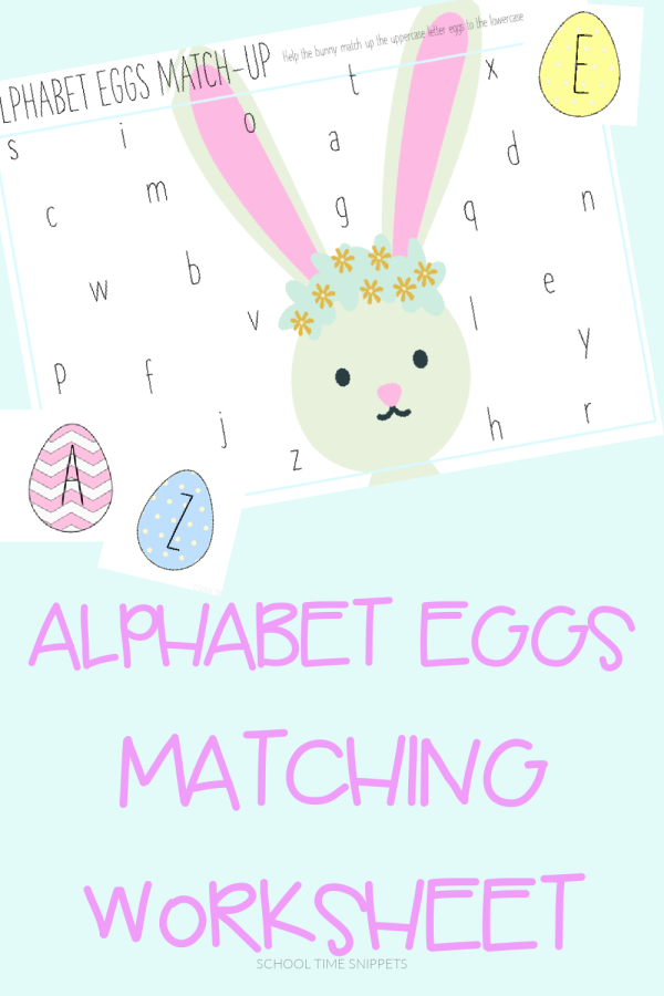 ABC MATCHING WORKSHEET FOR SPRING