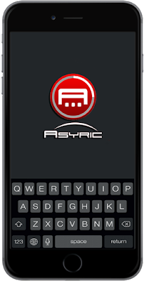 Welcome screen of Asyric App