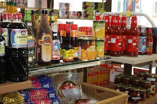 Lebensmittel im Asia Shop