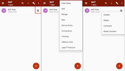 Tampilan Menu Tab di Tik-App