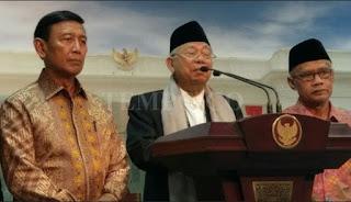 Ketua MUI Pusat KH Ma'ruf Amin
