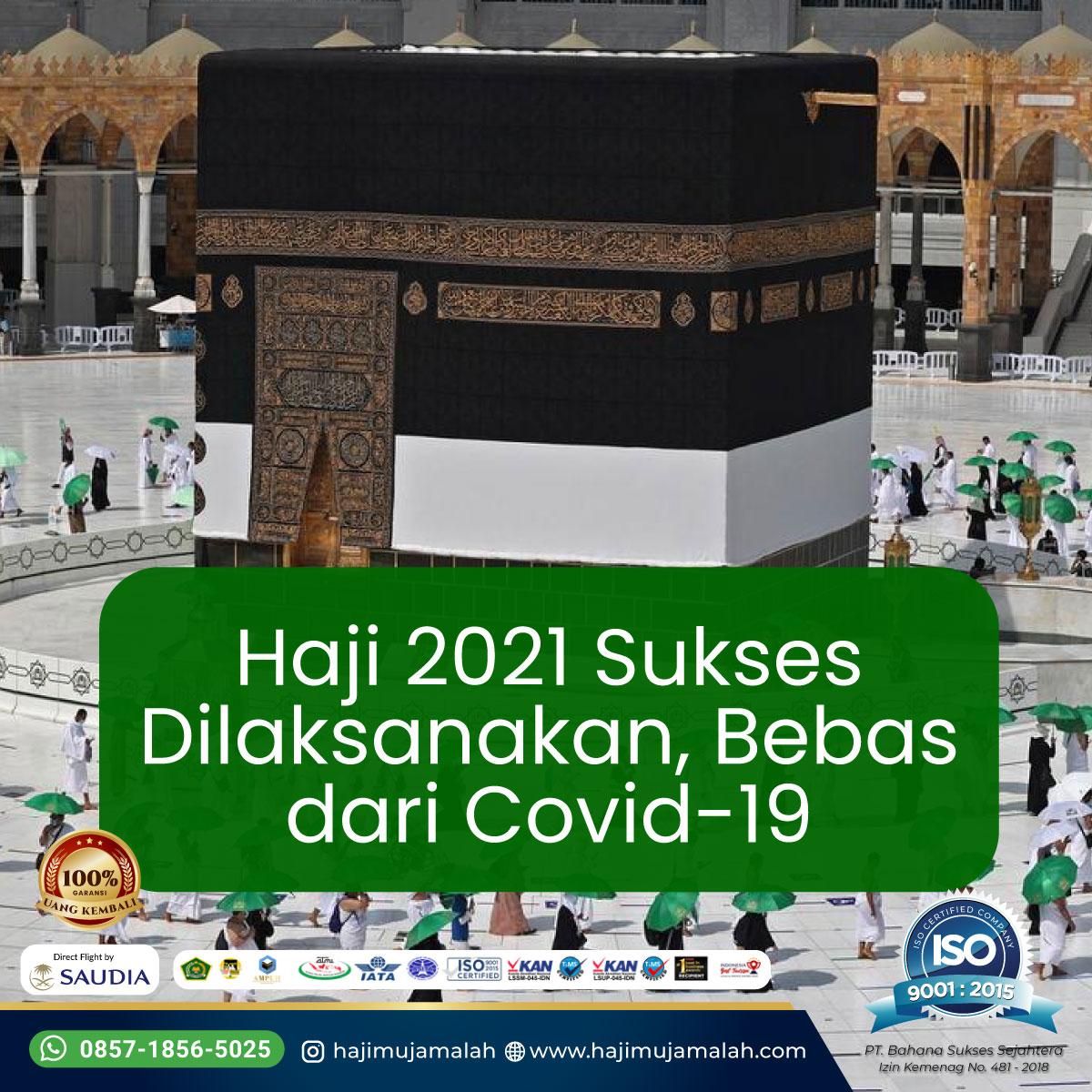Haji 2021 Sukses Dilaksanakan, Bebas dari Covid-19