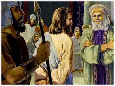 Resultado de imagem para jesus diante d e caifás