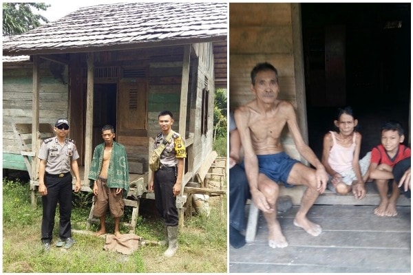 Polisi Sekadau Sambangi Warga di Spasa Dusun Janang Sebatu Sekadau