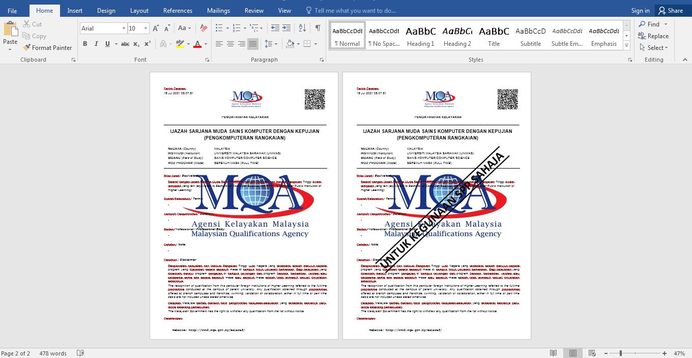 Cara membuat dokumen palang untuk kegunaan SPP sahaja