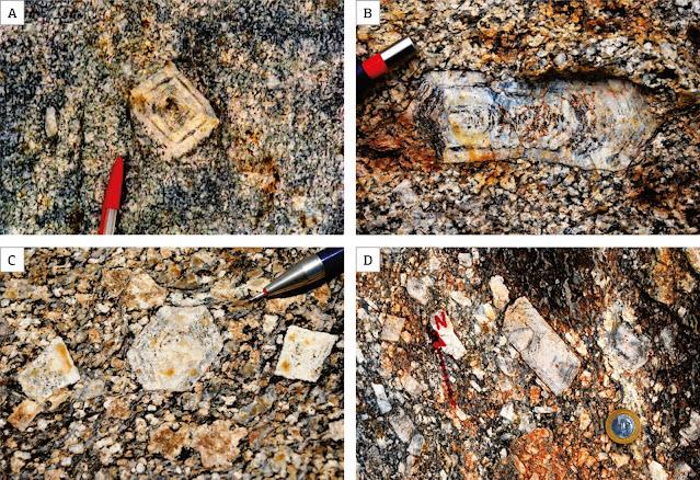 granito porfiritico com fenocristais de quartzo
