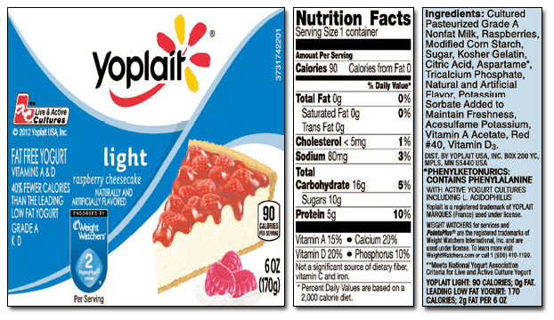 Training on Empty: Yoplait makes a bad decision |Yoplait Yogurt Ingredients