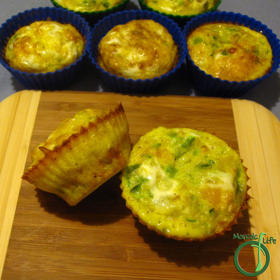 Morsels of Life - Mini Frittatas - Quick and easy mini frittatas with eggs, cheese, vegetables, and whatever else you like!