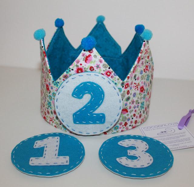 corona de cumpleaños 1 2 3