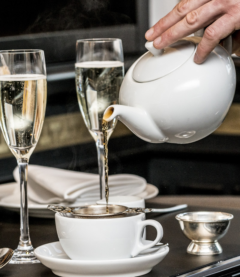 Beverage selection - Afternoon tea at Baglioni Hotel London