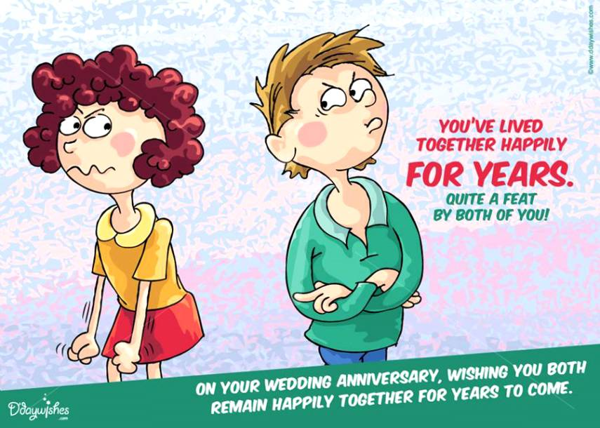 Funny Wedding Anniversary Quotes For Husband With Cute Images ...