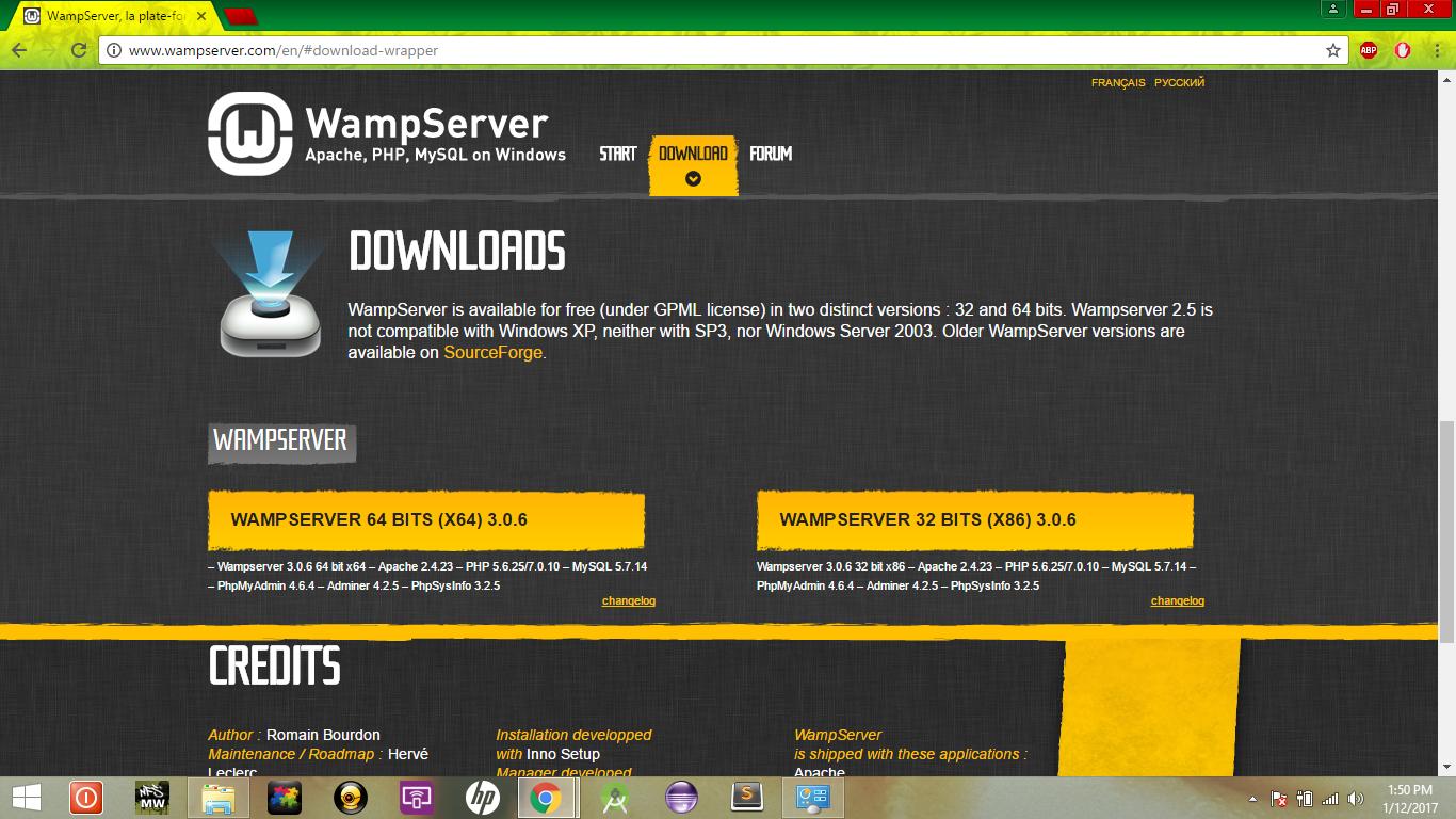 wampserver 32 bits (x86) 3.0.6
