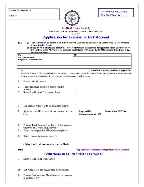 employee provident fund form - Baruthotelpuntadiamante