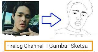 Lucunya Gambar Sketsa Erpan1140, Youtuber Gaming Indonesia!