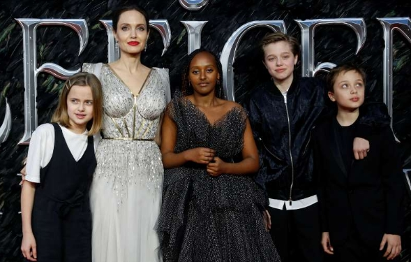 Angelina Jolie stays calm for the children during the lockdown