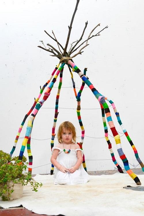 decorar-ramas-lana-pompones