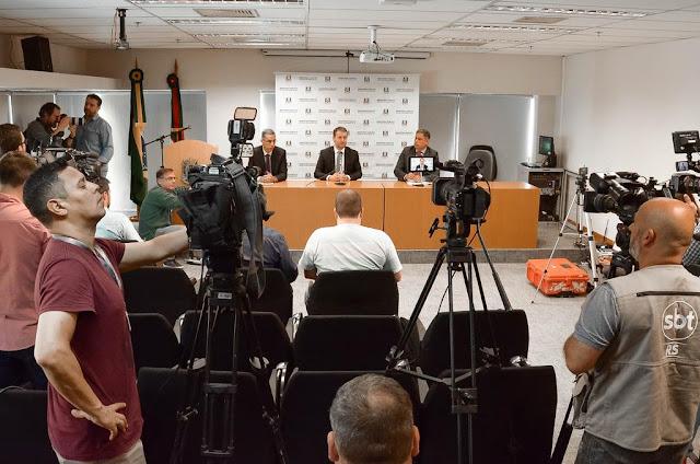 Momento da entrevista do MP (Foto: Divulgação / MP)